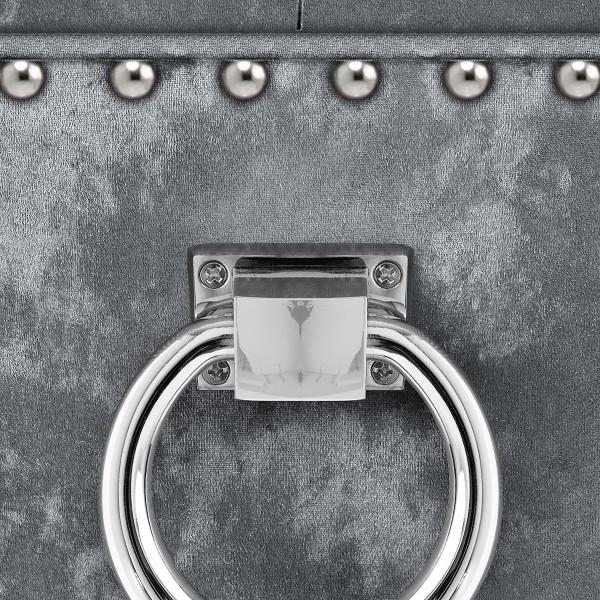 Chaise de Bar Chêne Velours - Ascot Gris Foncé