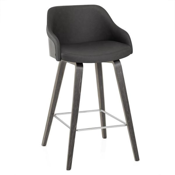 Chaise de Bar Bois Faux Cuir - Adele
