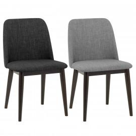 Chaise bois tissu - Elwood