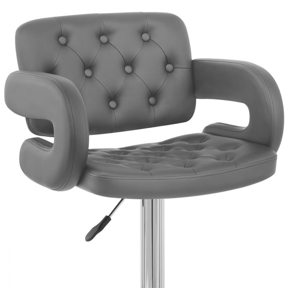Faux Cuir Chaise Chrome Polaris De Bar bfgy76