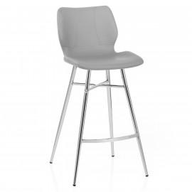 Chaise de Bar Métal Simili Cuir - Haze