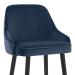 Chaise de Bar Bois Velours - Glam Bleu
