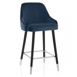 Chaise de Bar Bois Velours - Glam