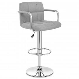 Chaise de Bar Chrome Tissu - Maze