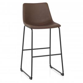 Chaise de Bar Métal Faux Cuir Antique - Bucket