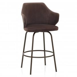 Chaise de Bar Métal Velours - Duke