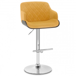 Chaise de Bar Chrome Velours - Dakota