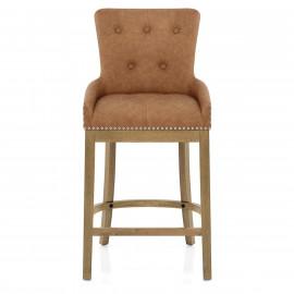 Chaise de Bar Chêne Faux Cuir - Knightsbridge