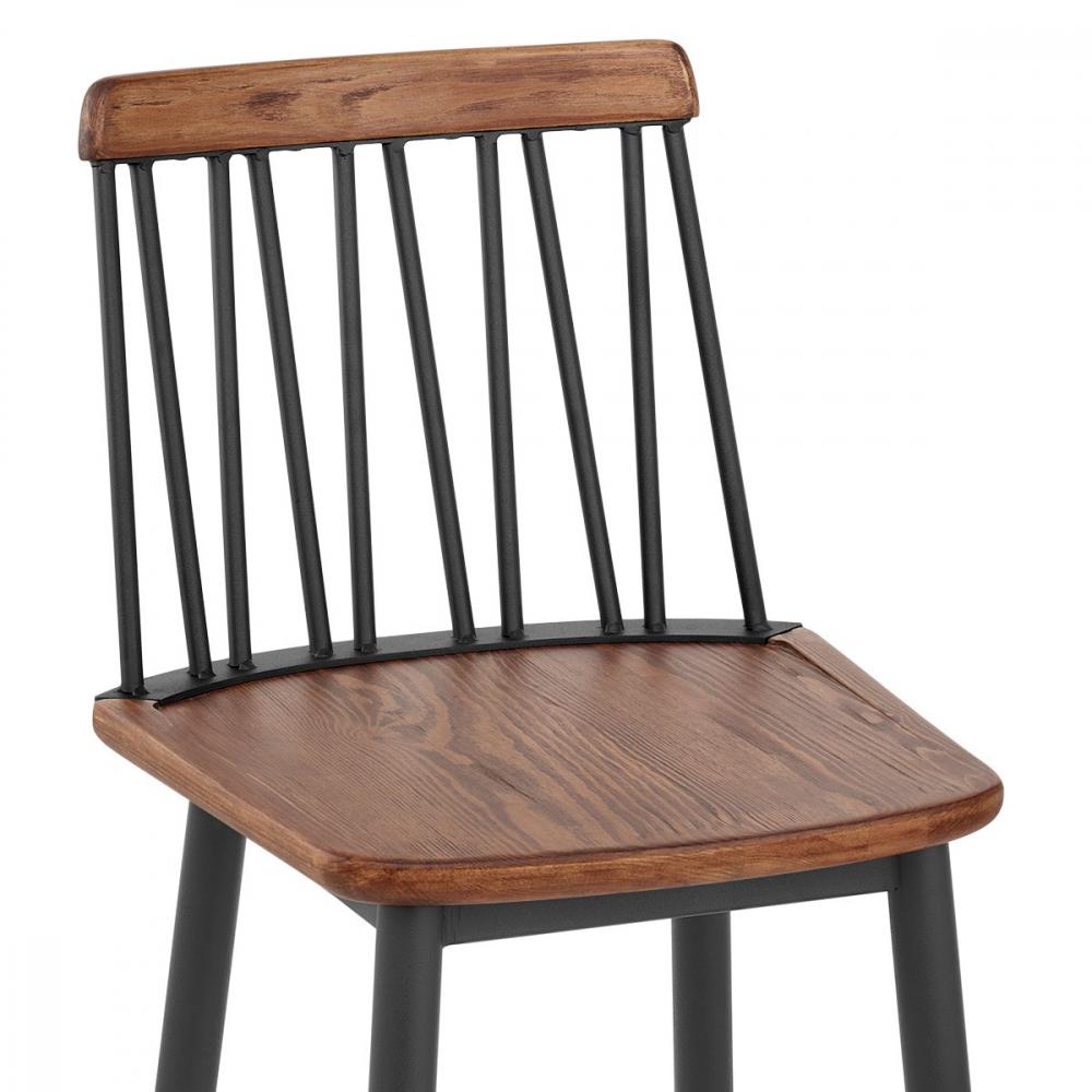 chaise de bar m tal bois nash monde du tabouret. Black Bedroom Furniture Sets. Home Design Ideas