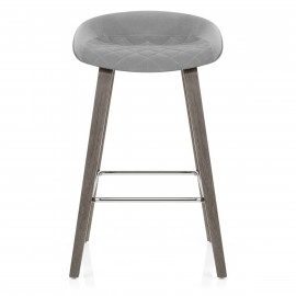 Tabouret de Bar Bois Velours - Epic