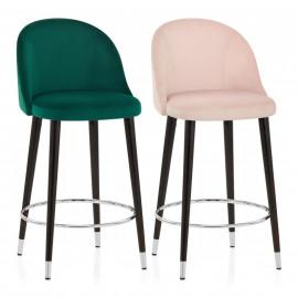 Chaise de Bar Bois Velours - Polo