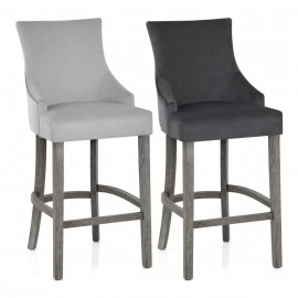 Chaise de Bar Bois Tissu - Richmond