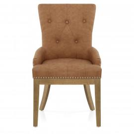 Chaise Chêne Faux Cuir - Knightsbridge