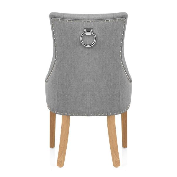 Chaise Chêne Tissu - Ascot Gris