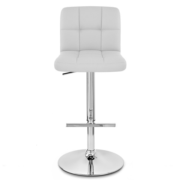 Chaise de Bar Faux Cuir Chrome - Grid