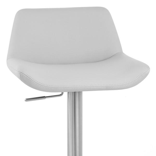 Chaise de Bar Simili Cuir Chrome Brossé - Christiana