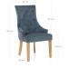 Chaise Chêne Tissu - Ascot Bleu