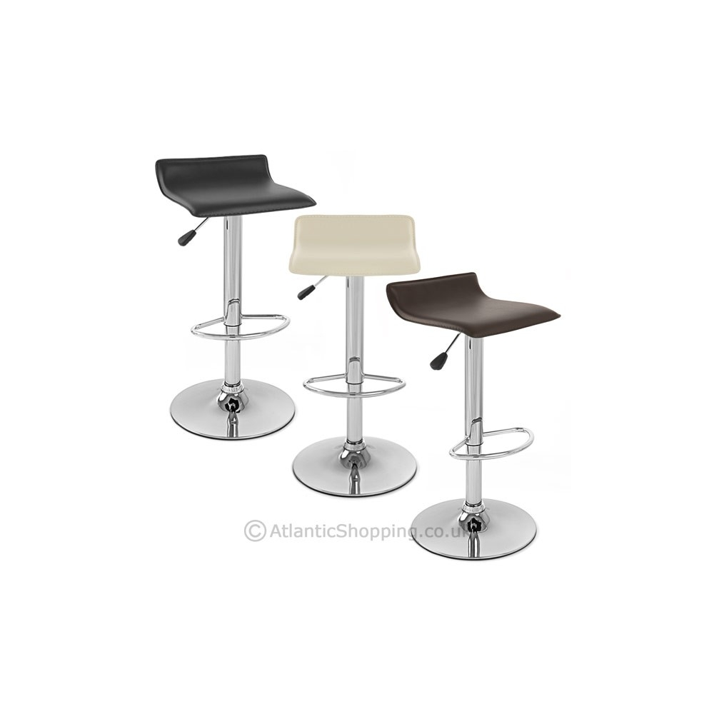 Chaise de bar faux cuir chrome mars monde du tabouret - Chaise de bar en cuir ...