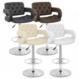Chaise de Bar Faux Cuir Chrome - Polaris