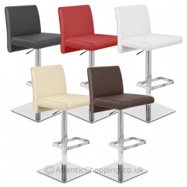 Chaise de Bar Cuir Chrome - Siena