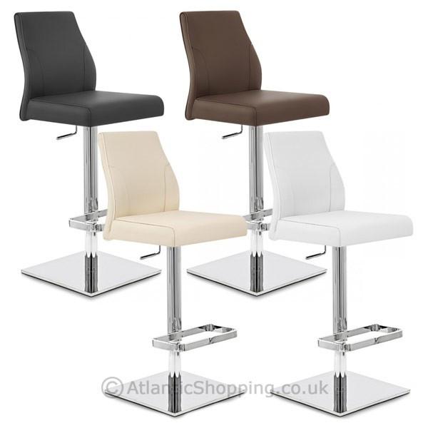 Chaise de Bar Cuir Chrome - Martello