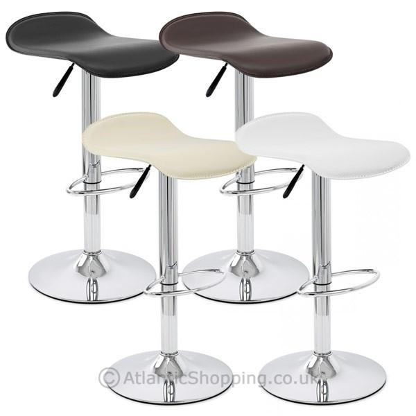 chaise de bar faux cuir chrome zars monde du tabouret. Black Bedroom Furniture Sets. Home Design Ideas