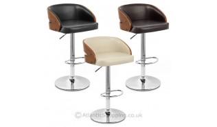 Chaises de bar en bois design avec ou sans dossier monde du tabouret - Chaise de bar avec dossier ...