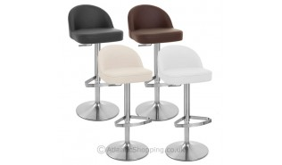 Chaises de bar en cuir v ritable monde du tabouret - Tabouret de bar cuir veritable ...